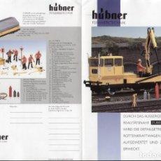 Juguetes antiguos: CATÀLOGO HÜBNER FEINWERKTECHNIK 1992 ? ZUBEHÖRPROGRAMM SPUR 1 - EN ALEMÁN. Lote 155727526