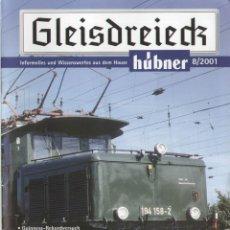 Juguetes antiguos: CATÀLOGO HÜBNER GLEISDREIECK 8/2001 SPUR 1 INFORMATIONS - EN ALEMÁN. Lote 155732286
