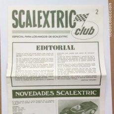 Juguetes antiguos: REVISTA SCALEXTRIC CLUB NÚMERO 2 MUY BUEN ESTADO. Lote 155953345