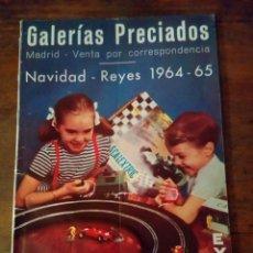 Juguetes antiguos: CATÁLOGO DE JUGUETES GALERÍAS PRECIADOS MUÑECAS FAMOSA GAMA SCALEXTRIC. Lote 156209908