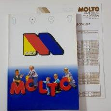 Juguetes antiguos: CATÁLOGO JUGUETES - MOLTO 1997 INCLUYE TARIFA DE PRECIOS. Lote 156775838