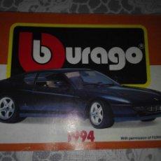Juguetes antiguos: CATÁLOGO BURAGO 1994. Lote 157919886