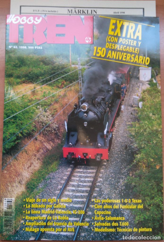 LOTE 28 REVISTA HOBBY TREN AÑO 1996 1997 Y1998 Y POSTERS (Juguetes - Catálogos y Revistas de Juguetes)