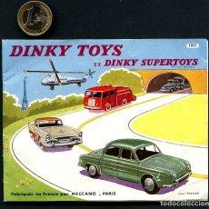 Juguetes antiguos: DINKY TOYS, DINKY SUPERTOYS, CATÁLOGO PUBLICITARIO, MECCANO, FRANCIA, 1957. Lote 160312306