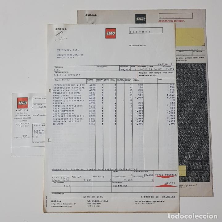 COLECCIONISMO JUGUETES - FACTURA LEGO ABRIL 1987 + ALBARÁN + RECIBO (Juguetes - Catálogos y Revistas de Juguetes)
