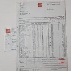 Juguetes antiguos: COLECCIONISMO JUGUETES - FACTURA LEGO AGOSTO 1987 + ALBARÁN + RECIBO . Lote 160669842