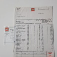 Juguetes antiguos: COLECCIONISMO JUGUETES - FACTURA LEGO OCTUBRE 1987 + ALBARÁN + RECIBO . Lote 160670138