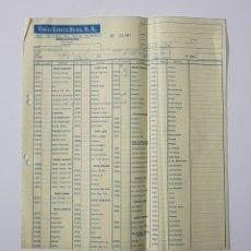Juguetes antiguos: COLECCIONISMO JUGUETES - HOJA DE PEDIDO EXIN LINES BROS SA 1987 ROBLOCK CASTILLO TENTE CINEXIN 32807. Lote 160672398