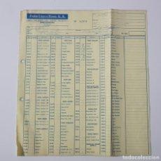Juguetes antiguos: COLECCIONISMO JUGUETES - HOJA DE PEDIDO EXIN LINES BROS SA 1987 ROBLOCK CASTILLO TENTE CINEXIN 32878. Lote 160672550