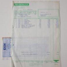Juguetes antiguos: COLECCIONISMO JUGUETES - FACTURA EXIN LINES BROS SA DICIEMBRE 1987 REFERENCIAS SCALEXTRIC + RECIBO. Lote 160672734