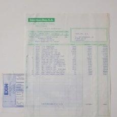 Juguetes antiguos: COLECCIONISMO JUGUETES - FACTURA EXIN LINES BROS SA JULIO 1987 SCALEXTRIC + RECIBO. Lote 160673058