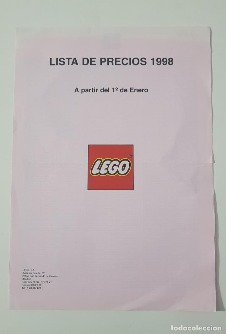 COLECCIONISMO CATÁLOGO JUGUETES - LEGO TARIFA PRECIOS 1998 (Juguetes - Catálogos y Revistas de Juguetes)