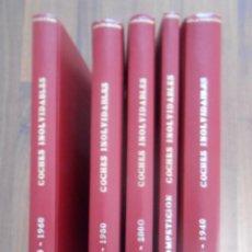 Juguetes antiguos: LOTE 5 TOMOS LIBROS COLECCION COCHES INOLVIDABLES SALVAT MINIATURAS BOOK LIBRO TOMO. Lote 160822686