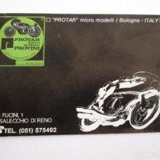 Juguetes antiguos: PROTAR - PEQUEÑO CATALOGO - 12X8 - MOTOS Y COCHES - 19 PAGINAS. Lote 163755542