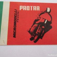 Juguetes antiguos: PROTAR - PEQUEÑO CATALOGO - 12X8 - MOTOS Y COCHES INCLUYE VESPA - 12 PAGINAS. Lote 163755810