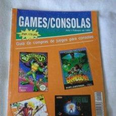 Juguetes antiguos: REVISTA CATALOGO DE JUEGOS DE CONSOLAS 1993 - NES - GAMEBOY - SUPER NINTENDO - MEGA DRIVE .... Lote 195449806
