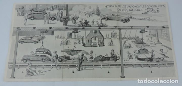Juguetes antiguos: Catálogo Automóviles Construídos Talleres Rai Juguetes Payá, desplegable con precios, Medidas desple - Foto 2 - 165150666