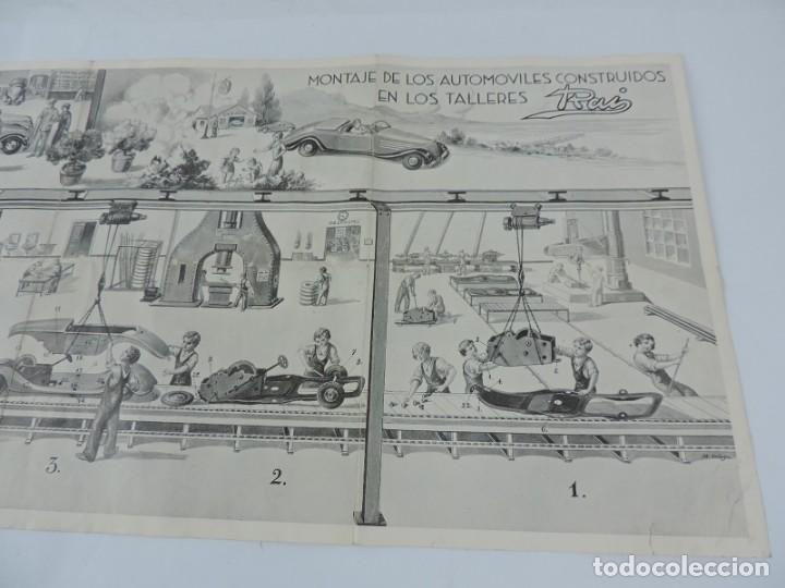 Juguetes antiguos: Catálogo Automóviles Construídos Talleres Rai Juguetes Payá, desplegable con precios, Medidas desple - Foto 4 - 165150666