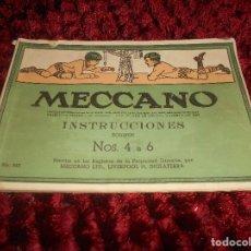 Juguetes antiguos: MANUAL MECCANO AÑOS 40 4-6 SUPERMODELOS.. Lote 165950034