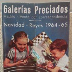 Juguetes antiguos: CATÁLOGO DE JUGUETES, GALERÍAS PRECIADOS, AÑOS 60,EXIN,RICO. Lote 166000236