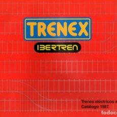 Juguetes antiguos: CATALOGO TRENEX - IBERTREN. 1987 TRENES A PILAS. Lote 166907868