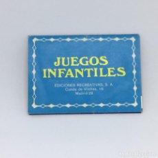 Juguetes antiguos: CATALOGO FOLLETO JUEGOS INFANTILES - EDICIONES RECREATIVAS - ERSA BARAJAS CARTAS - AÑOS 70. Lote 167008792