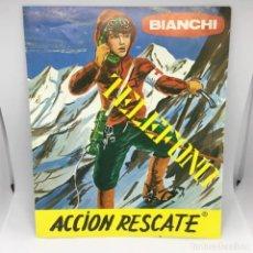 Juguetes antiguos: INSTRUCCIONES TELEFONO - BIANCHI - ACCION RESCATE - MADE IN SPAIN - AÑOS 70. Lote 167039648