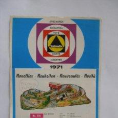 Giocattoli antichi: HOJA DE REPRESENTANTE JUGUETES TECHNOFIX 1971 ALEMANIA. Lote 170155012