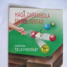 Juguetes antiguos: CATÁLOGO PUBLICITARIO BILLAR GARAJES ...CAMPAÑA TV 1987 - RIMA INOVAC VITORIA 1976. Lote 170167872