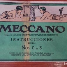 Juguetes antiguos: MECCANO INSTRUCCIONES EQUIPOS NOS 0 A 3, Nº545. Lote 171020647