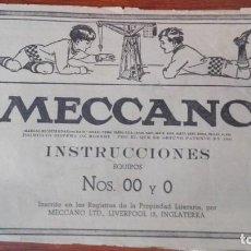 Juguetes antiguos: MECCANO INSTRUCCIONES EQUIPOS NOS 00 Y 0 Nº5512. Lote 171021167
