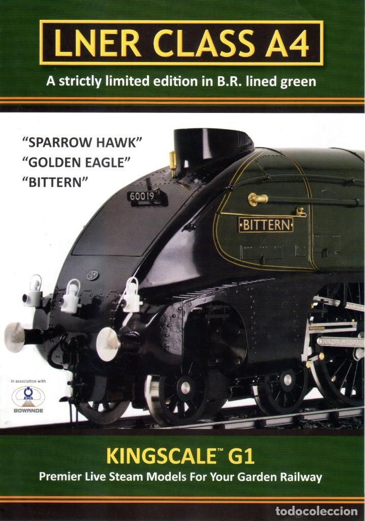 catálogo KINGSCALE G1 2013 Live Steam Gauge 1 LNER CLASS A4 en inglés