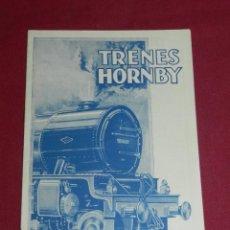 Juguetes antiguos: TRENES HORNBY, MECCANO LTD, LIVERPOOL - INGLATERRA, 1929, CATALOGO ILUSTRADO EN CASTELLANO 16 PAG, . Lote 171997607