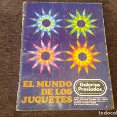 Juguetes antiguos: CATÁLOGO JUGUETES GALERÍAS PRECIADOS DE 1974/75. Lote 172388527