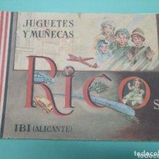 Juguetes antiguos: CATÁLOGO RICO JUGUETES Y MUÑECAS IBI ALICANTE. Lote 173057115
