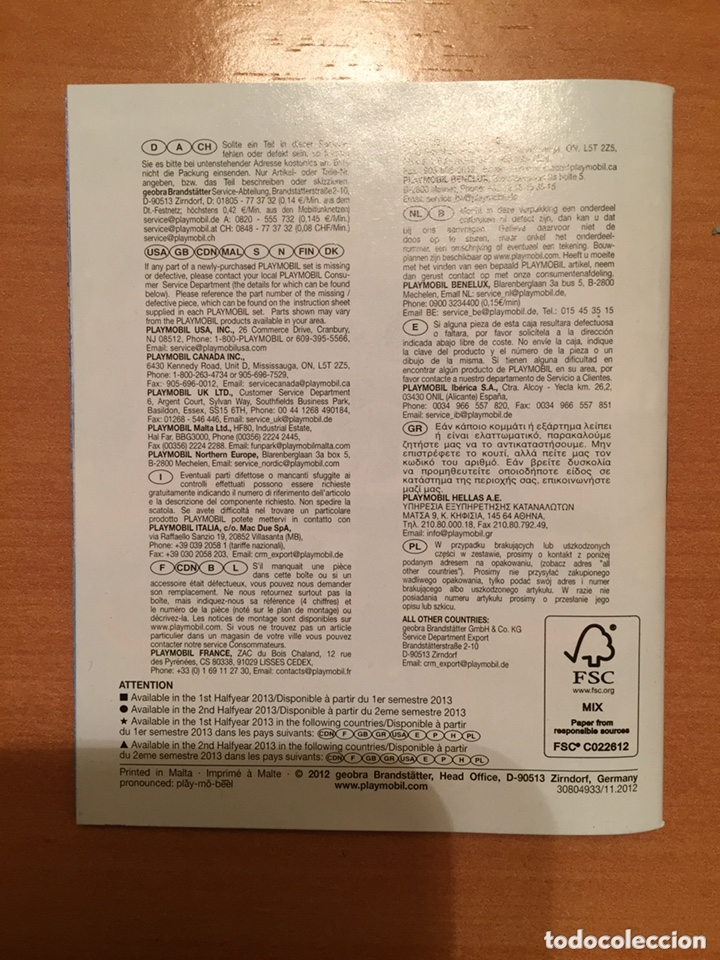 Juguetes antiguos: Playmobil catálogo grapa. 2012. Geobra - Foto 2 - 173662649