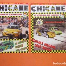 Juguetes antiguos: LOTE 2 REVISTAS CHICANE SCALEXTRIC Nº 11 Y 12 1997. Lote 173970887