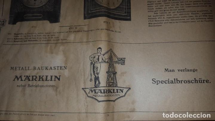 Juguetes antiguos: Catálogo Märklin 1924 (Primera edición alemana dirigida al público) - Foto 35 - 173995843