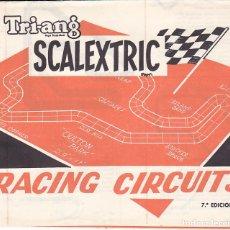 Juguetes antiguos: CATALOGO SCALEXTRIC RACING CIRCUITS 7ª EDICION . Lote 175479145