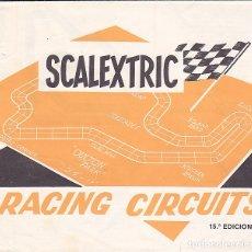 Juguetes antiguos: CATALOGO SCALEXTRIC RACING CIRCUITS 15ª EDICION . Lote 175479177
