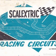Juguetes antiguos: CATALOGO SCALEXTRIC RACING CIRCUITS 14ª EDICION . Lote 175479210