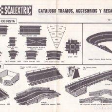 Juguetes antiguos: CATALOGO TRAMOS ACCESORIOS Y RECAMBIOS SCALEXTRIC EXIN 13ª EDICION. Lote 175479619