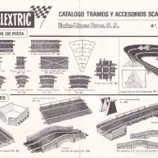 Juguetes antiguos: CATALOGO TRAMOS ACCESORIOS Y RECAMBIOS SCALEXTRIC EXIN 4ª EDICION . Lote 175479655