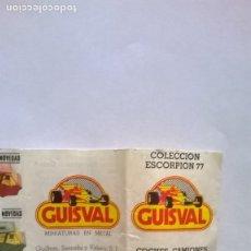 Brinquedos antigos: CATALOGO GUISVAL COLECCION ESCORPION 77. Lote 186285351