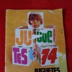 Juguetes antiguos: CATALOGO JUGUETES 1974 EL CORTE INGLÉS - MADELMAN - NANCY - SCALEXTRIC - TENTE - IBERTREN .... Lote 176213177