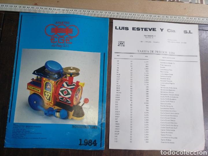 CATÁLOGO EGE 1984 Y LISTA DE PRECIOS 7 PAGINAS (Juguetes - Catálogos y Revistas de Juguetes)
