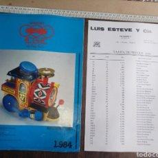 Juguetes antiguos: CATÁLOGO EGE 1984 Y LISTA DE PRECIOS 7 PAGINAS. Lote 82642928
