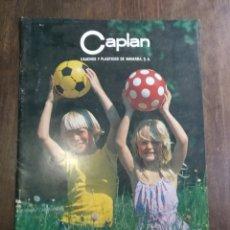 Juguetes antiguos: CATÁLOGO CAPLAN 1980 10 PÁGINAS. Lote 176279604