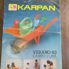 Juguetes antiguos: CATÁLOGO KARPAN 1983 ,7 PÁGINAS. Lote 176279847