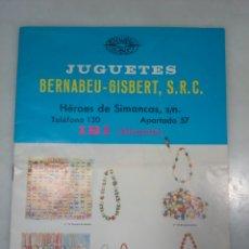 Juguetes antiguos: CATALOGO JUGUETES BERNABÉU - GISBERT. 1972. Lote 176586023